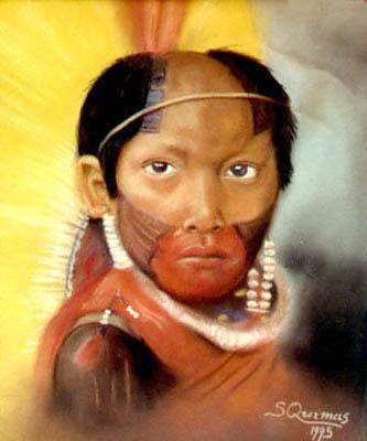 S. Quimas - Menino Índio - Pastel